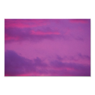 Pink Sunset Sky, Ohio. Poster