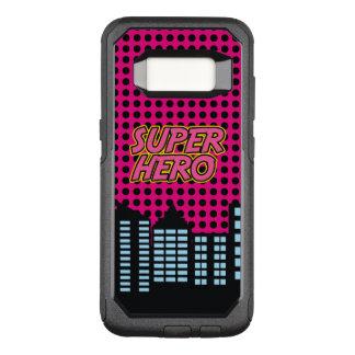 Pink Super Hero OtterBox Commuter Samsung Galaxy S8 Case