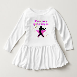 PINK SUPER STAR SOFTBALL IS MY LIFE DESIGN DRESS