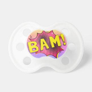 PINK SuperBABY binky, Superhero baby pacifier gift