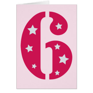 Pink Superstar 6 Birthday Card