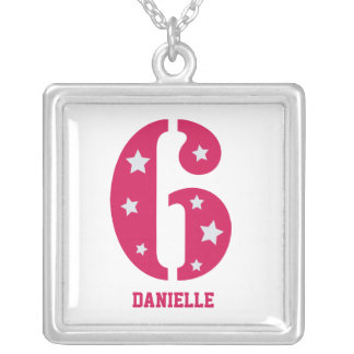 Pink Superstar 6 Personalised Birthday Necklace