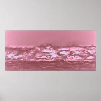 pink surf poster