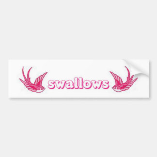 pink swallows bumper sticker
