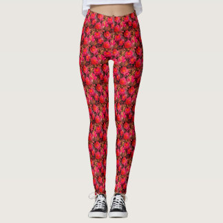 Pink Swamp Rose Flower Leggings