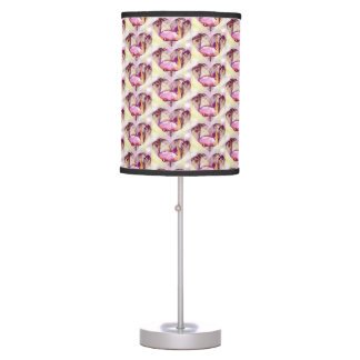 Pink Swan Hearts Table Lamp