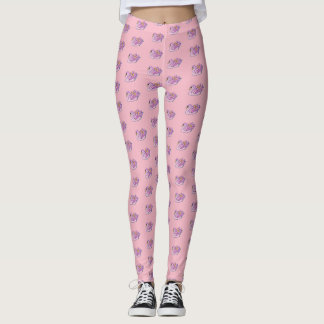 Pink Swans /Pink - Leggings