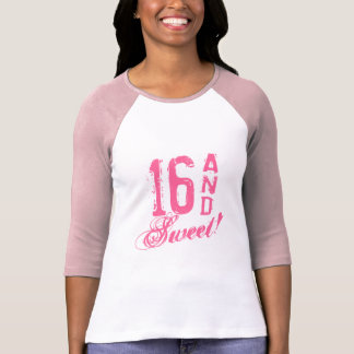 Pink sweet 16 sixteen Birthday t shirt for girls