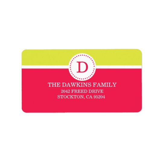 Pink Sweet Monogram Custom Monogrammed Family