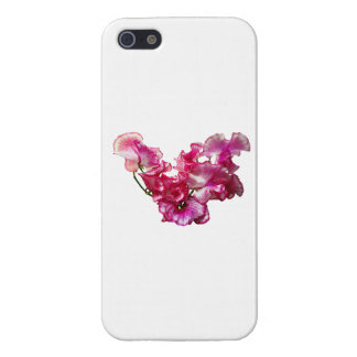 Pink Sweet Pea Heart Case For iPhone 5/5S