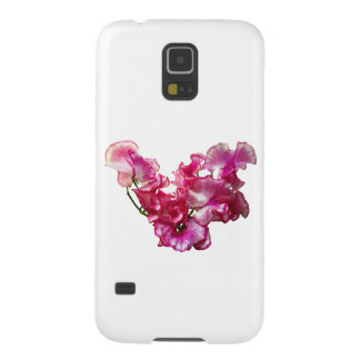 Pink Sweet Pea Heart Cases For Galaxy S5