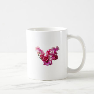 Pink Sweet Pea Heart Coffee Mug