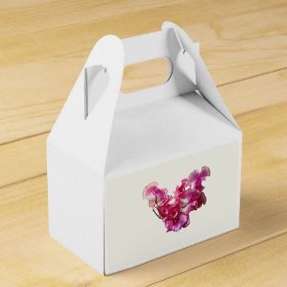 Pink Sweet Pea Heart Favor Box