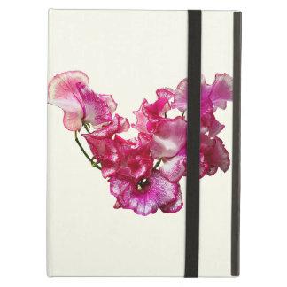Pink Sweet Pea Heart iPad Air Cover