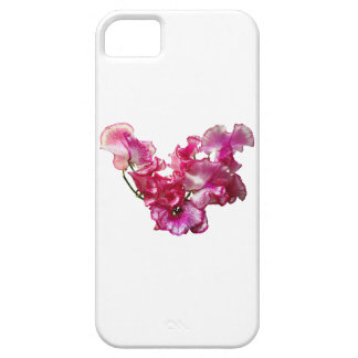 Pink Sweet Pea Heart iPhone 5 Case