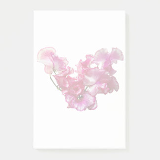 Pink Sweet Pea Heart Post-it Notes