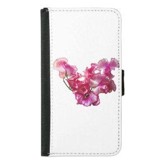 Pink Sweet Pea Heart Samsung Galaxy S5 Wallet Case