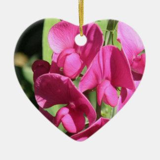 Pink Sweet Pea Ornament
