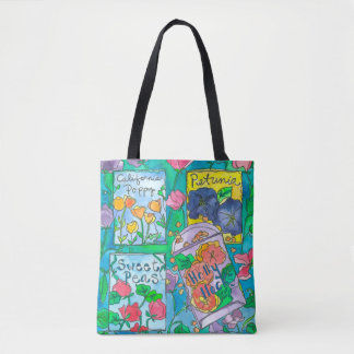 Pink Sweet Peas Tote Bag
