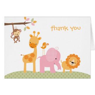Pink Sweet Safari Note Card