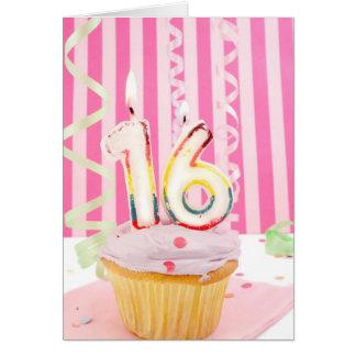 Pink sweet sixteen card
