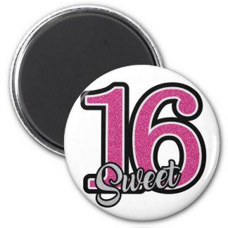 Pink Sweet Sixteen Magnet