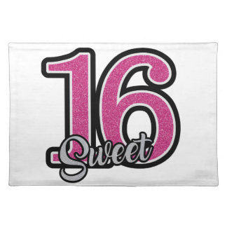 Pink Sweet Sixteen Placemat