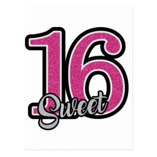 Pink Sweet Sixteen Postcard