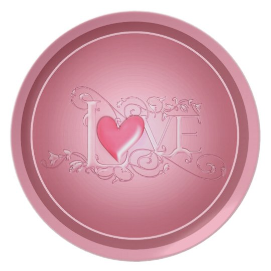 Pink Sweetheart Valentine's day plate