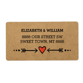 Pink Sweethearts & Arrows Rustic Country Style