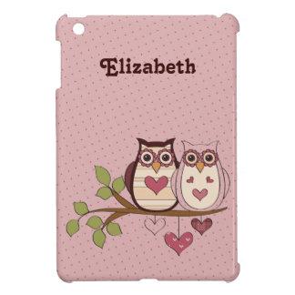 Pink Sweethoot Owls Customized iPad Mini Case