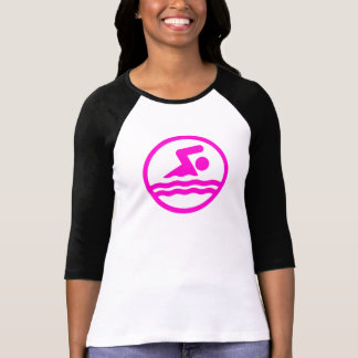Pink Swim Women's T-shirt for Swimmer or Swim Mom