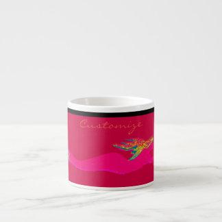 pink  swimming mermaid espresso cup