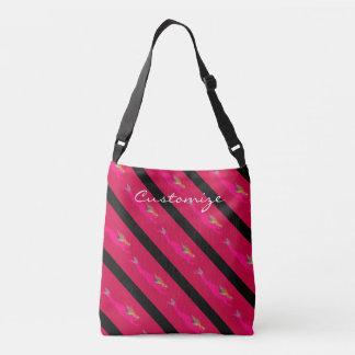 pink swimming mermaids crossbody bag