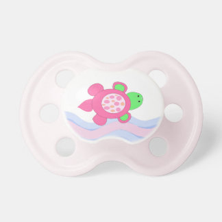 Pink Swimming Turtle Pacifier