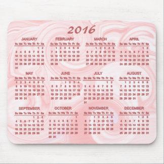 Pink Swirl 2016 Calendar Mouse Pad