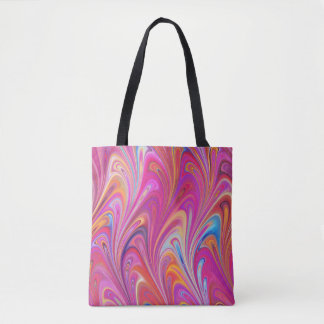 Pink Swirl Abstract Tote Bag