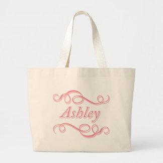 Pink Swirl Ashley Large Tote Bag