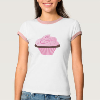 Pink Swirl Cupcake with Sprinkles T-Shirt