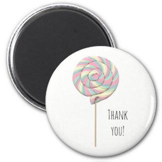 Pink Swirl Lollipop Magnet