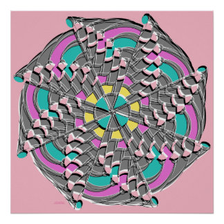Pink Swirl - Poster