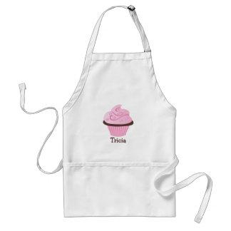Pink Swirl Sprinkle Cupcake Standard Apron