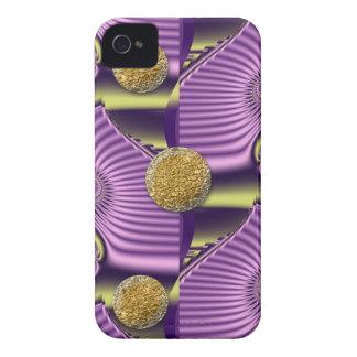 Pink Swirls & Golden dots Blackberry bold case