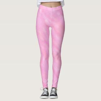 Pink Swirls Watercolor Wash Leggings