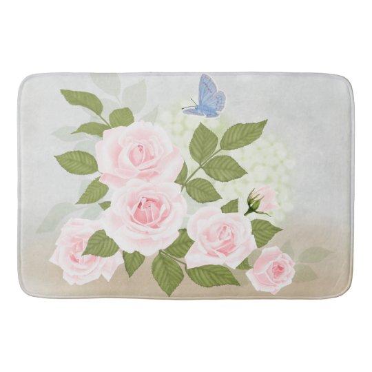 Pink Symphony-Roses Bathroom Mat