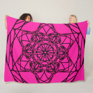 PINK SYNERGY MANDALA Large Fleece Blanket