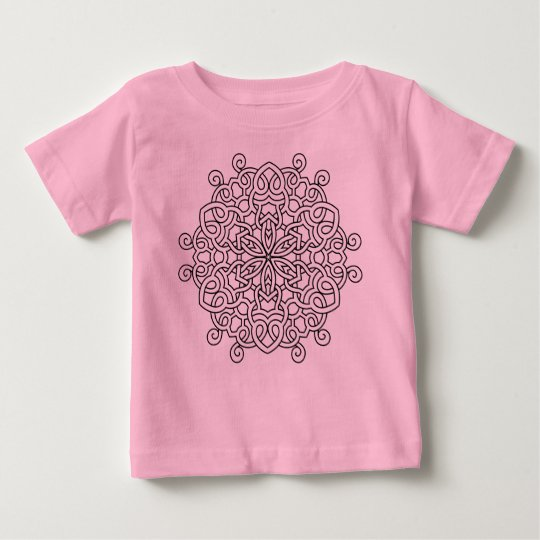 PINK T-SHIRt with Mandala art