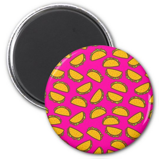 pink tacos 2 inch round magnet