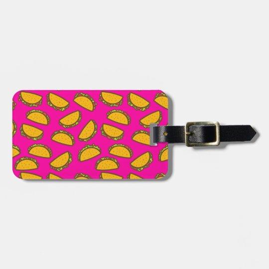 pink tacos bag tag