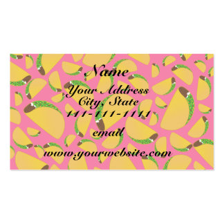 Pink tacos Double-Sided standard business cards (Pack of 100)